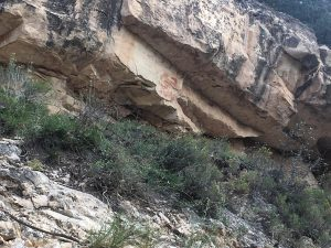 Pictographs on the Bright Angel Trail